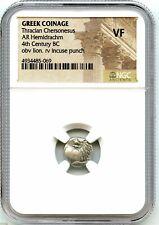 Ancient Greece Silver AR Hemidrachm, Thracian Chersonesus,  Nice Coin, NGC VF!