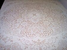 round ivory lace tablecloth