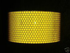 2M X 50MM ROLL HIGH INTENSITY REFLECTIVE TAPE YELLOW SELF ADHESIVE VINYL HI VIZ