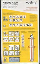 VUELING airlines Airbus 320 airline SAFETY CARD V3/15 ee e485