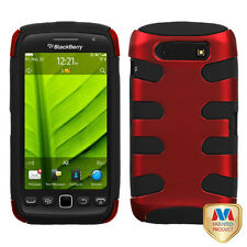 For BlackBerry Torch 9850 9860 Hybrid FISHBONE Case Phone Cover Red Black