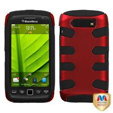 For BlackBerry Torch 9850 9860 Hybrid FISHBONE Case Phone Cover Red Black