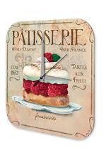 Horloge murale Décor De Cuisine  Framboise pâte à tarte Imprimee Acrylglas