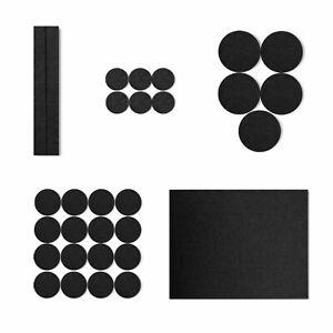 30 assorted Felt Pads furniture leg self adhesive 3-5mm floor protectors pack