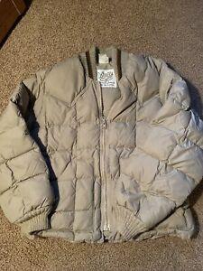 Vintage WALLS WESTERN WEAR Mens Long Sleeves Zip Down Puffer Jacket 46 Regular
