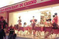 Monaco Du Casino  Cafe Restaurant Kodachrome Vintage Image  Manikins on Break