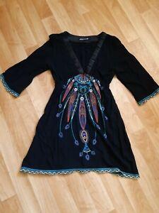 Ladies Sz 8 Otto Mode Embroidered Dress