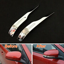2X Car Door Rearview Side Mirror Cover Trim Strip Stainless Steel For Yaris 2014