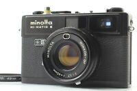 [Exc+5] Minolta Hi-Matic E Black Rokkor 40mm f/1.7 Rangefinder Camera from JAPAN