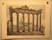 """Luigi Rossini """"Veduta dell' Interno del Tempio della Concordia"""" Etching Print"""