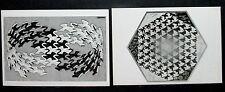 M.C. Escher Postcard Lot Of 2, Swans And Verbum