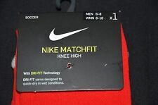 NIKE Matchfit Knee High Socks, Sz: Medium 6-8, Color: Red, NWT; MSRP: $20.00