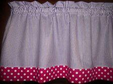 Purple Stripes Pink Polka-Dot minnie mouse hello kitty fabric curtain Valance