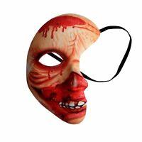 Halbmaske blutig Halloween Verkleidung Zubehör Fasching Maske Karneval