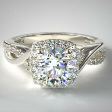 14K White Gold Size 5 6 7 8 9 0.28 Carat Semi Mount Diamond Ring For Women Solid