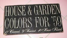 House & Garden Magazine Paint Color Samples for 1959 Espresso Siamese Pink Beige