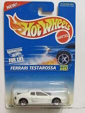 HOT WHEELS 1996  FERRARI TESTAROSSA  #497 WHITE W/ 5 SP WHEELS