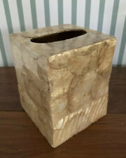 Capiz Shell Gold Tissue Box Cover Home Decor Bathroom Office Philippines New