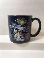 Disney Cruise Line Captain Mickey Mouse Coffee Mug Tea Cup 2007 Navy Red