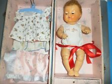 """15"""" Tiny Tears Doll W Clothes & Metal Trunk American Character Baby Doll"""