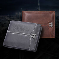 RFID Blocking Mens Bifold Wallet Genuine Leather Money Clip Business Card Holder
