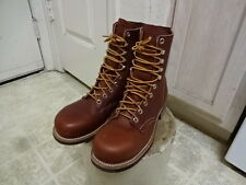 EXCELLENT CONDITION USED ONCE VINTAGE 1967 RED WING BOOTS STELL TOE 5.5 C USA