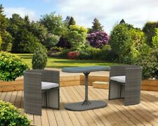 PAGODA PAGTHSET2 Toulouse Steel Hideaway Garden Furniture Set of 3