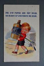 R&L Postcard: Comic Reg Maurice, Regent 4183 Ink and Paper are not Dear, Bottle