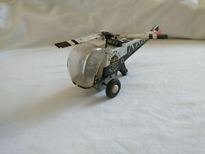 Vintage Japanese made Tin Friction Toy Helicopter - Police Highway Patrol