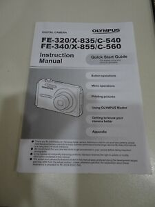 OLYMPUS FE-320 FE-340 DIGITAL CAMERA Manual Instructions Booklet Guide ONLY