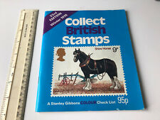 Winter 1978 Collect British Stamps Stanley Gibbons Colour Check List Book