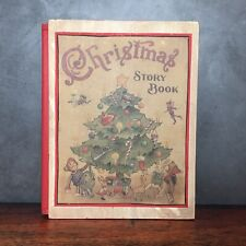 Retro Wooden Christmas Tree Story Book Faux Book Storage Gift Stash Box  9""