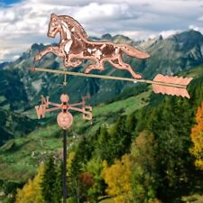 "Garden Outdoor Polished Roof Mounted Copper Horse Weathervane 38""x18""x46"" US"