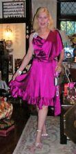 Silk Knee Length Wrap Dresses
