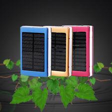 20000mAh Dual USB Portable Solar Battery Charger Solar Power Bank Case #Phone HC