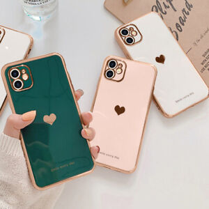 Girl's Cute Heart Shockproof Phone Cover Case For iPhone 13 11 12 Pro Max XR 8 7