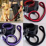 Large Dog Strong Leads Leas Pet Adjustable Braid Traction Rope Chain+Collar s