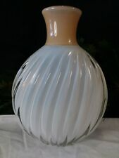 Murano Opalescent Glass Vase~HEAVY TWIST FLUTES~Large