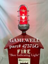 GAMEWELL part 47375G *AUTHENTIC* Ruby RED GLASS LIGHT Fire Police Alarm Call Box