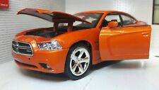 G LGB 1:24 Echelle Dodge Charger R/T 2011 Motormax Orange Voiture Miniature