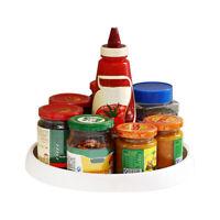 Round Spice Storage Rack Tray 360°Rotating Turntable Home Kitchen Jar Holder znk