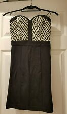 *Guess* Black Strapless Sweetheart Bustier Dress- size 2- Retail $118
