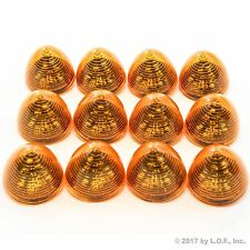 "12 New 2"" Amber LED Beehive Side Clearance Marker Lights Trailer Auto Bright"