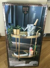 Deco Glamour Drinks Trolley - Gold with 2 Mirrored Shelves - Art Deco Theme