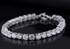 Silver Crystal Diamante Tennis Bracelet Cubic Zirconia Bangle Bridal Love Gift