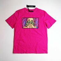 Men Hudson 100% authentic short sleeve t-shirt size large pink money