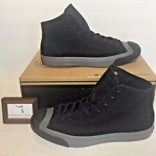$120 Converse Mens Size 8.5 Jack Purcell Mid Monochrome Nubuck Black Grey Gray