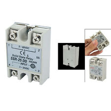 New Plastic Metal Solid State Relay SSR DC-DC 25A 3-32VDC/5-60VDC HY