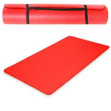 Esterilla de yoga gimnasia Colchoneta fitness Pilates deporte rojo 185x80x1,5cm