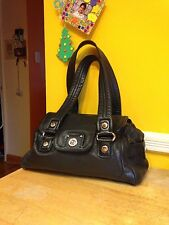 Marc by Marc Jacobs Black Leather Totally Turn lock mini Quinn Shoulder Bag.